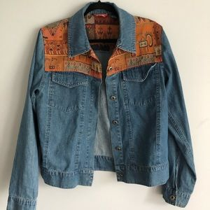 Tops - Denim Button Up with Southwestern Embroidery